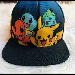 Pokémon Hat SnapBack Blue Multi Color Characters